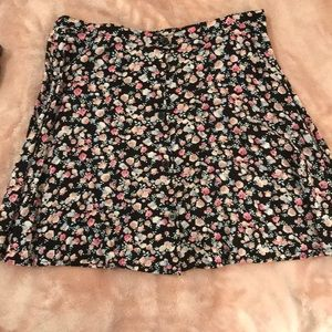 Floral button down skirt by H&M